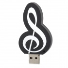 Creative Music Note Style USB 2.0 Flash Drive - Black (8GB)