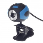 SHITIANXIA 6705 Clip Style 3.0 MP USB Digital Computer / Laptop Web Camera - Black + Blue
