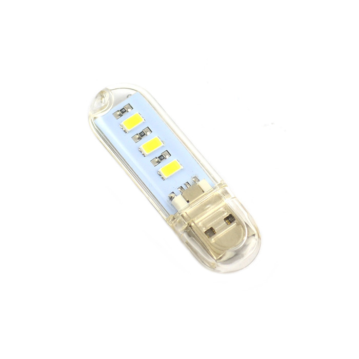 exLED USB 2.0 0.3W 30lm 3-LED White Mobile Power USB Light mini usb light 3 led white light small lamp night light mobile power usb light