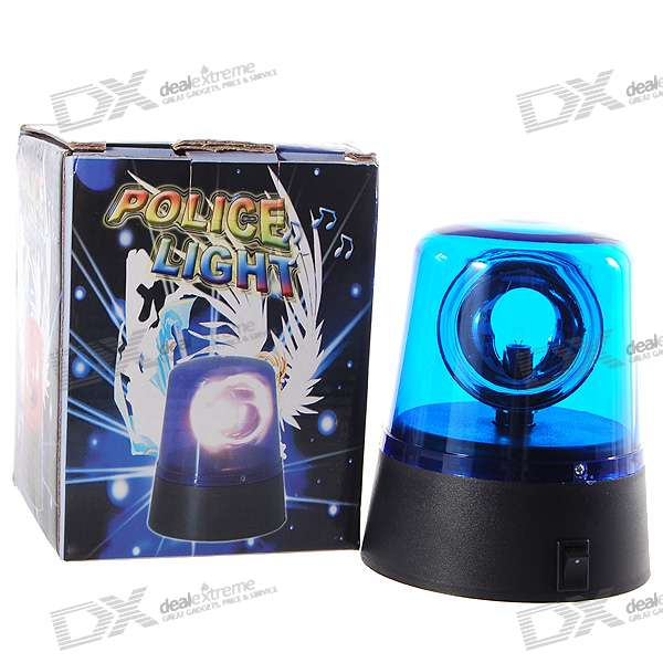 Police Lamp Style Rotational Blue + White Light (3*AA)