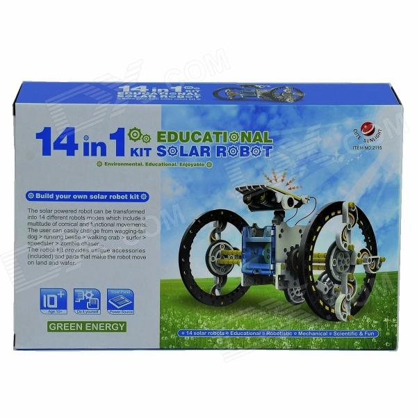 14-in-1 solar rechargeable robot kit