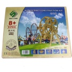DIY Wooden Assembling Ferris Wheel Model - Burlywood