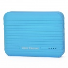 Water Element A10 10400mAh Dual USB Portable Power Bank w/ Flashlight - Blue