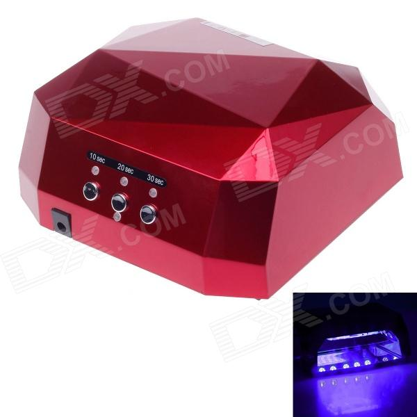 A024 Professtional Nail Dryer 12W CCFL & 24W LED UV Nail Lamp - Dark Red (100~240V / US Plug ) acevivi professional 12w led nail dryer uv lamp nail manicure machine fast drying polish curing nail gel art tools us plug u2