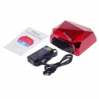 A024 Professional Nail Dryer 12W CCFL-24W LED UV Nail lampe - Dark Red (100 ~ 240V / US Plugger)