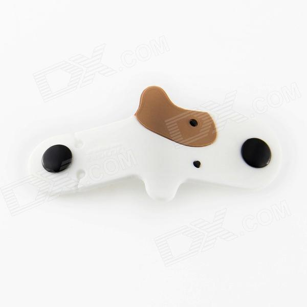 DOOGEE Cute Dog Style Rubber Earphone Cable Winder Organizer