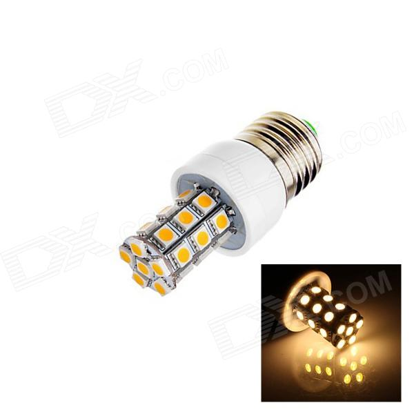 цены на E27 6W 280lm 2700K 24 x SMD 5060 LED Warm White Light Lamp Bulb - White (AC 85~265V) в интернет-магазинах