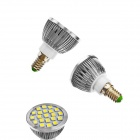E14 3W 180lm 2700K 21 x SMD 5050 LED White Light Lamp Bulb - White (AC 220-240V)