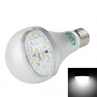LUO E27 12W 1000lm 6500K 24x SMD 5630 LED White Light Bulb - Silver +  Transparent (85~265V)