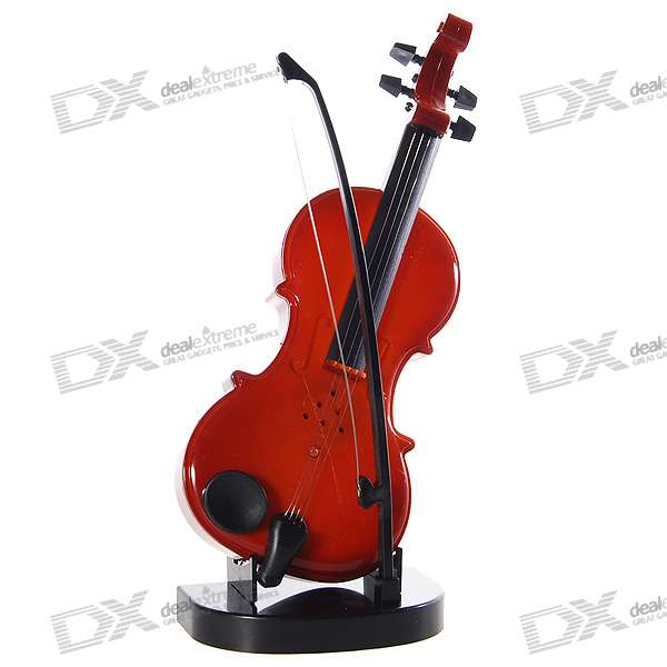 Violin Shaped Musical Toy with Stand (2*AA)