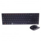 R8 1928 2.4GHz Wireless 99-key Ultra-Slim Keyboard + 1000DPI Wireless Mouse Set - Black