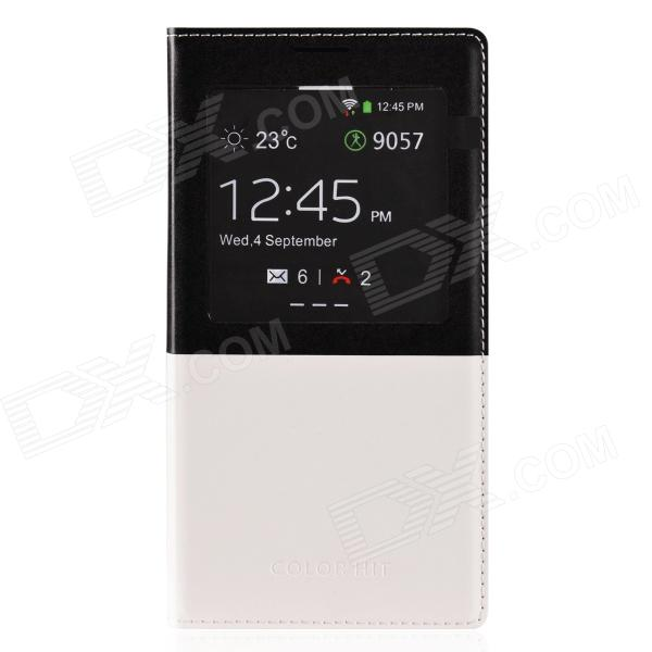 MARMOTER Stylish PU Leather Case w/ Display Window for Samsung Galaxy Note 3 - White + Black