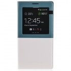 MARMOTER Stylish PU Leather Case+Rear Cover w/ Display Window for Galaxy Note 3 - White + Grey Blue