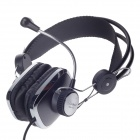 KEENION KDM-735 Stylish Headphone w / Volume Control / Microphone - Black (2.2m / 3.5mm)