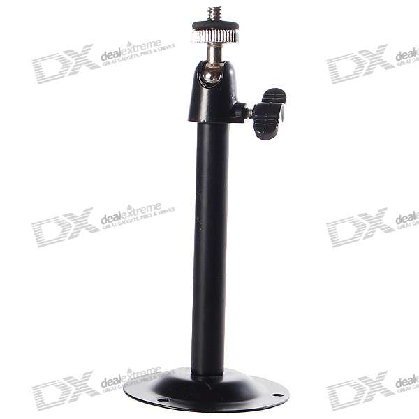 Angle Adjustable Steel Stand for Surveillance Security Camera (Black)