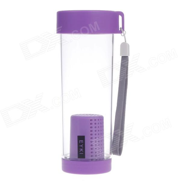 EYKI H5018 High-quality Leak-proof Bottle w/ Filter + Strap - Purple (400ml)