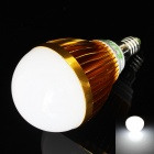 LUO E14 9W 730lm 6500K 18-SMD 5630 LED White Light Bulb - Golden + White (85~265V)