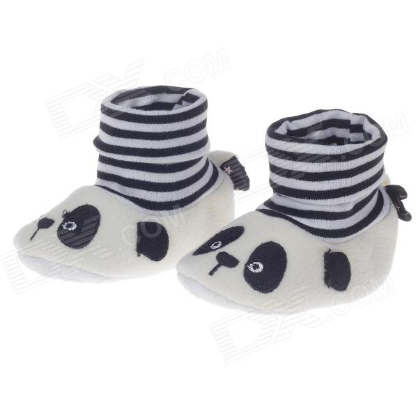 Cute Panda Cartoon High Collar Socks Style Anti-Slip Comfortable Baby Shoes ( 9~12 Months / Pair) baby stroller high landscape can sit and lie trolley high quality folding baby cart children s pram