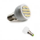 GCD 89 E14 2W 60lm 2500K 24 x SMD 3528 LED Warm White Light Lamp Bulb - White (AC 220-240V)