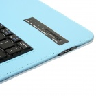 "Detachable 64-Key Bluetooth V3.0 Keyboard Leather Case for 9.7""~10.1""Tablet PC- Light Blue"