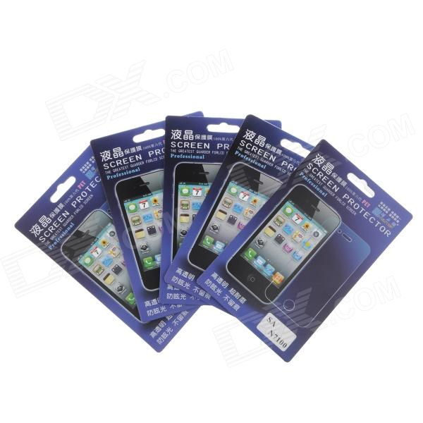 Newtop Protective Clear Screen Protector Guard Film for Samsung N7100 - Transparent (5-Piece Pack) newtop protective clear screen protector film guard for ipad mini transparent