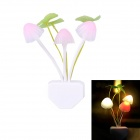 0.5W 3-LED Mushroom Light Control Energy Saving Night Wall Lamp (AC 220V / 2-Flat- Pin Plug)