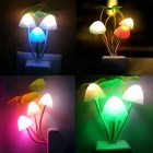 0.5W 3-LED Energy Saving contrôle Mushroom Night Light Lampe de mur (AC 220V / 2-plat- Pin Plug)