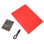 "Detachable 64-Key Bluetooth V3.0 Keyboard Leather Case for 9.7""~10.1"" Tablet PC - Red"