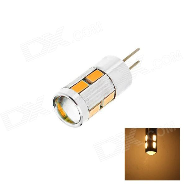 OOQ D2 G4 5W 180lm 2700K 10 x SMD 5730 LED Warm White Light Lamp Bulb - White+Silver (DC 12V)
