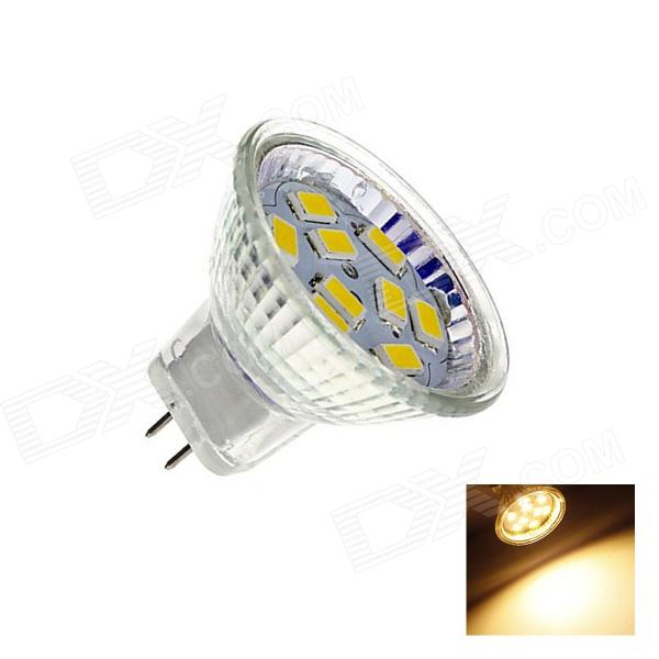 GU4 4W 220lm 2700K 9 x SMD 5730 LED Warm White Light Lamp Bulb - White (DC 12V)