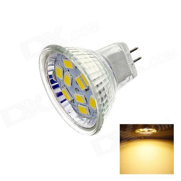 gu4 4w 220lm 2700k 9 x smd 5730 led warm white light lamp bulb white dc 12v free shipping. Black Bedroom Furniture Sets. Home Design Ideas