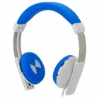 Kanen IP-2000 Retro Style Headphones w/ Microphone - Blue + White (3.5mm Plug / 1.5m)