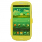 Stylish Protective Silicone Case for Samsung i9300 - Translucent Yellow