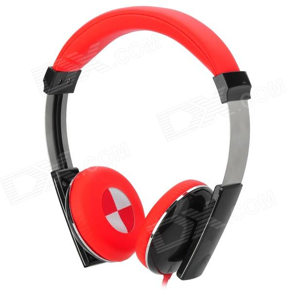 Kanen IP-2000 Retro Style Wired Headphones w/ Microphone - Red + Black (3.5mm Plug / 1.5m) kanen i20 black
