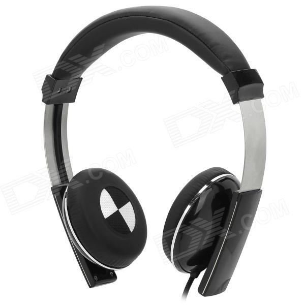 Kanen IP-2000 Retro Style Headphones w/ Microphone - Black (3.5mm Plug / 1.5m) kanen i20 black