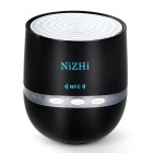 NIZHI TT-026 Mini Wireless Bluetooth V2.1 Subwoofer Speaker for IPHONE / Samsung + More - Black
