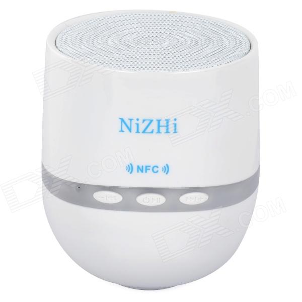 NIZHI TT-026 Mini Wireless Bluetooth V2.1 Subwoofer Speaker for IPHONE / Samsung + More - White remax rb m9 bluetooth speaker portable mini wireless bluetooth speaker loudspeaker home theater subwoofer music for iphone ipod
