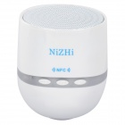 NIZHI TT-026 Mini Wireless Bluetooth V2.1 Subwoofer Speaker for IPHONE / Samsung + More - White