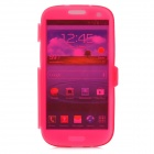 Stylish Protective Silicone Case for Samsung i9300 - Translucent Red