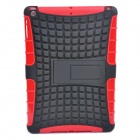 2-in-1 Protective TPU + PC Back Case w/ Stand for IPAD AIR - Black + Red