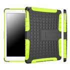 2-in-1 Protective TPU + PC Back Case w/ Stand for IPAD AIR - Black + Kelly