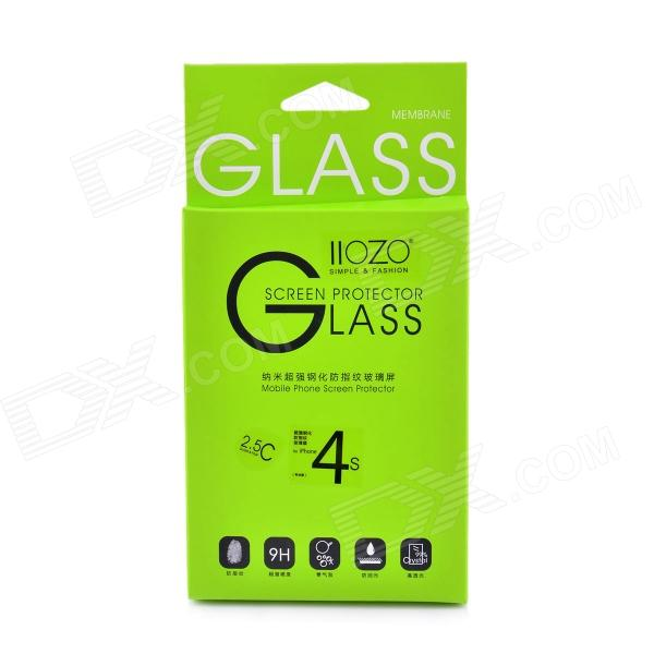 2.5C Front Premium Tempered Glass Membrane Screen Protector for IPHONE 4s - Transparent