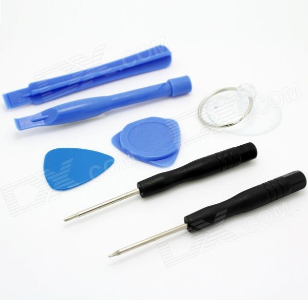 7-in-1 Professional Disassemble Repair Tools Set for Iphone 5C / 4 / 4s / 5 / 5s - Black + Blue 1 883 893 11 kdl 40hx720 used disassemble