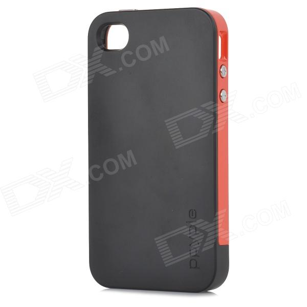 Ppyple ACS+ Power Saving / RF Performance up PC + TPE Back Case for IPHONE 4 / 4S - Black + Red ppyple ac2 case w signal enhancement power saving ic card holder for iphone 4 4s light blue