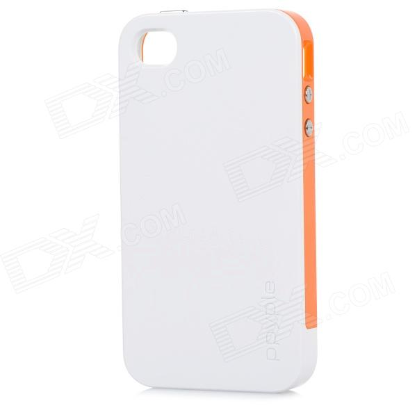 Ppyple ACS+ Power Saving / RF Performance up PC + TPE Back Case for IPHONE 4 / 4S - White ppyple ac2 case w signal enhancement power saving ic card holder for iphone 4 4s light blue