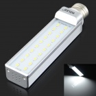 HZLED E27 10W 1000LM 6000K 20-SMD 5630 LED White Light Bulb - White + Silver (AC 85-265V)