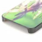 Relief Wind Chime Style Protective Plastic Back Case for IPHONE 5 / 5S - Green + Black