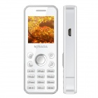 "MYSAGA D2 GSM Bar Phone w/ 1.44"" Screen, Quad-band, FM and Dual cards Dual standby -White"