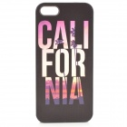 Relief California Style Protective Plastic Back Case for IPHONE 5 / 5S - Black