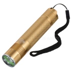 Mini Cree XM-L U2 1000lm 5-Mode Cold White Light Headlamp - Golden (1 x 18650)